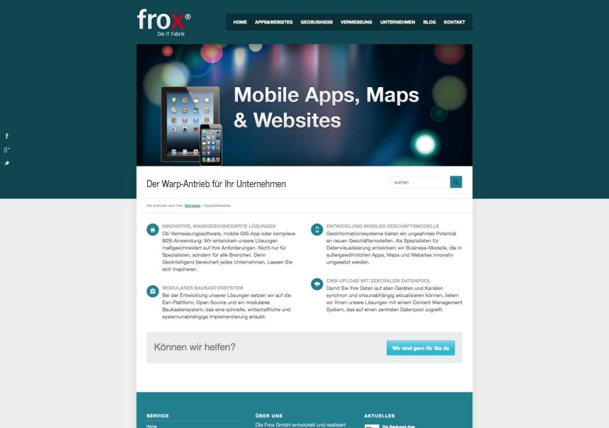 Responsive Webseite für frox IT