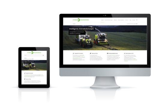 Responsive Site für Hydrive Engineering