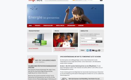 Webseite für Solaranbieter