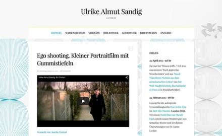 Autorenwebseite und Blog