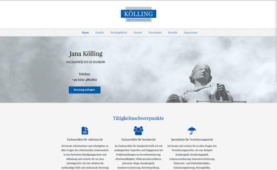 Webseite für Fachanwaltskanzlei