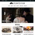 Webseite für Filmproduktionsfirma Atlantis-Film