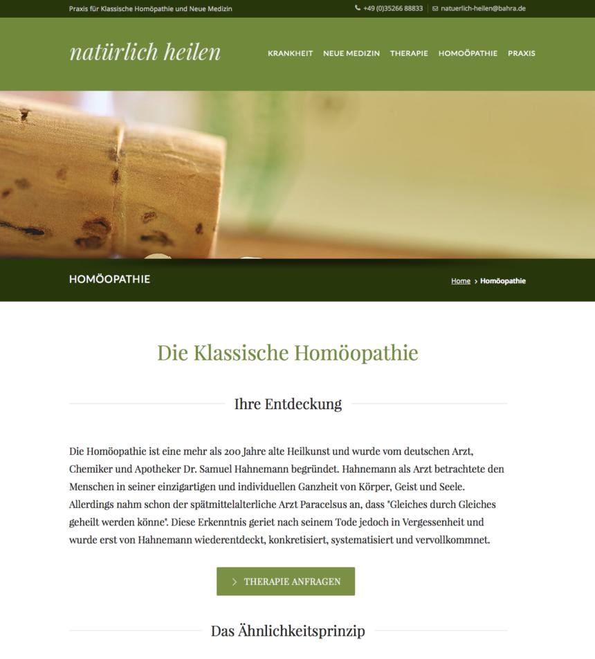 Praxis-Webseite für Heilpraktikerin